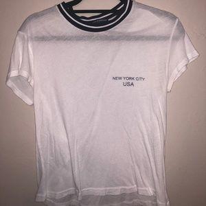 Brandy Melville White New York City Shirt